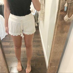 Aerie Small summer crochet tassel shorts